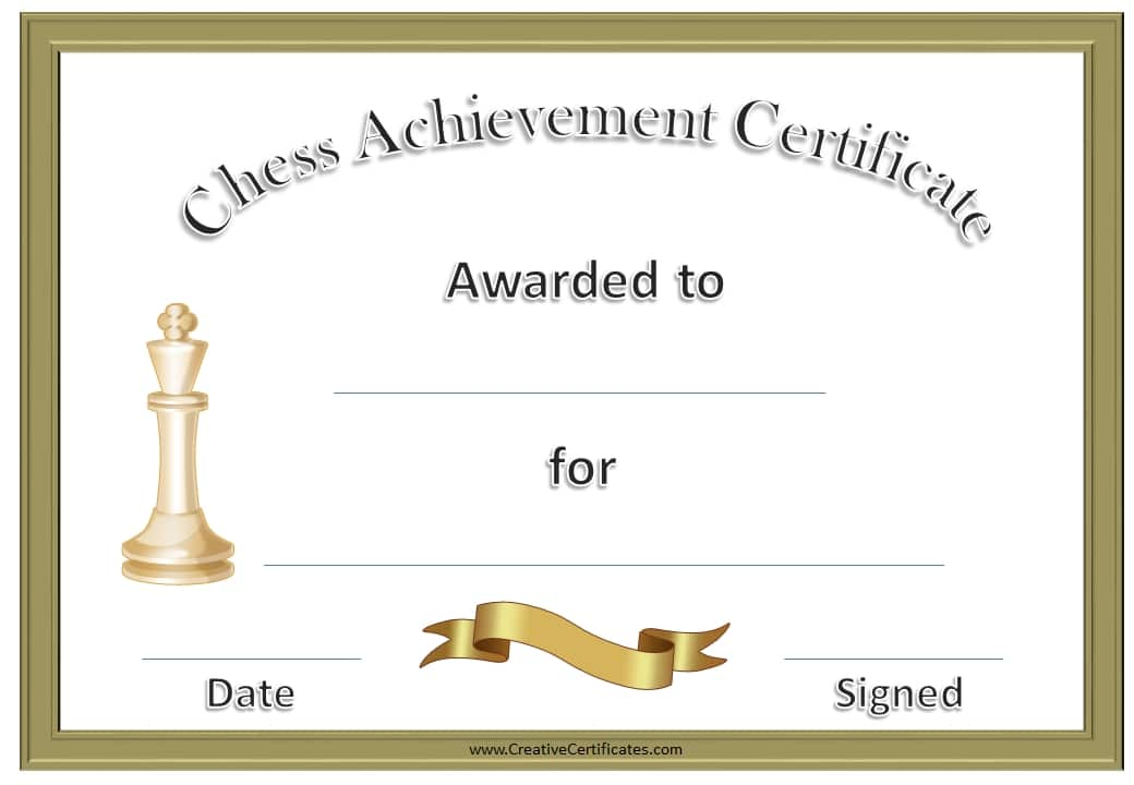 Free Chess Awards and Certificates | Customize Online