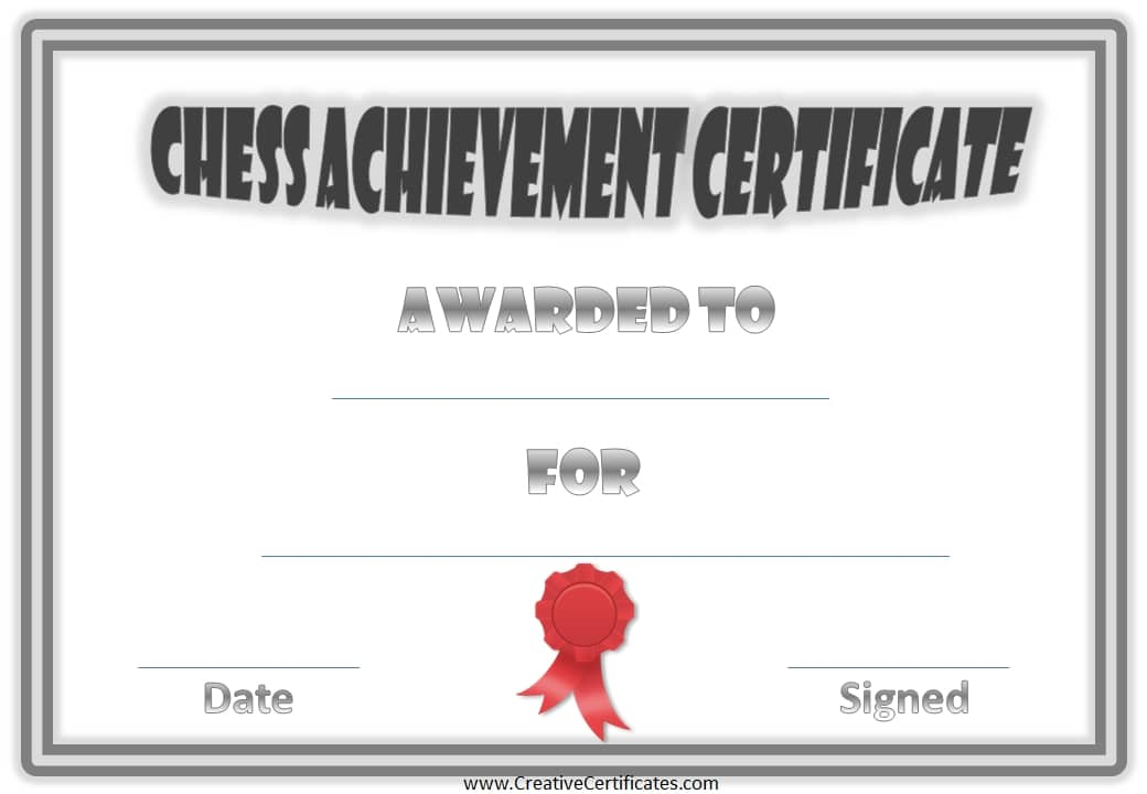 free chess awards and certificates