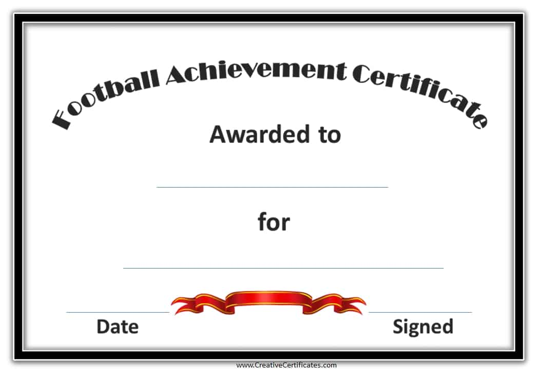 This is an image of Punchy Printable Soccer Certificate