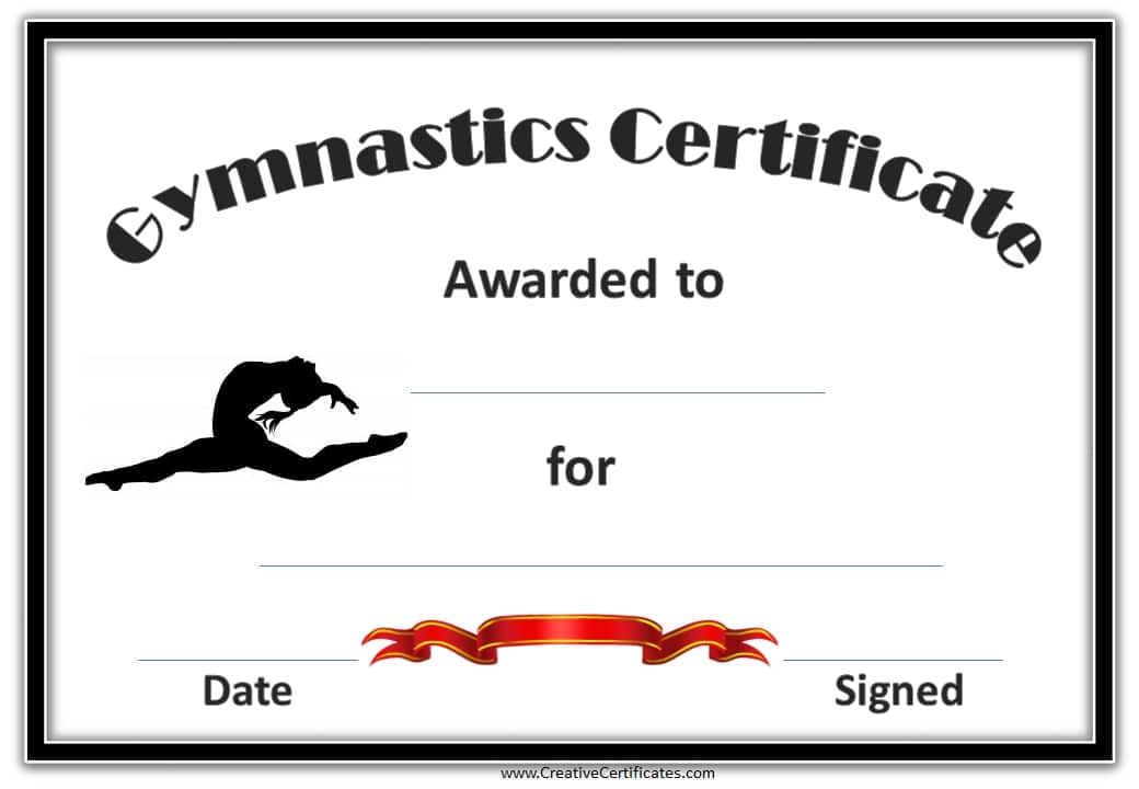 gymnastics certificate awards template certificates printable award templates gymnast sports printables blank creativecertificates customize swimming variety many site visit nice