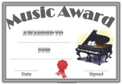 Free Editable Music Certificate Template - Free and ...