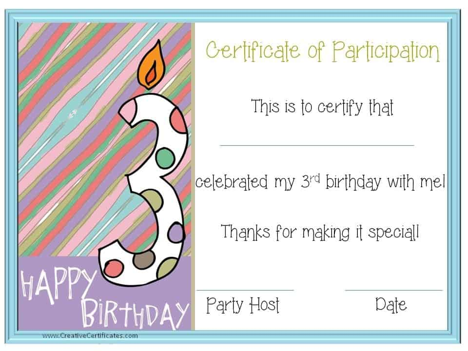 Thank you for coming to my party - Free Custom Printables