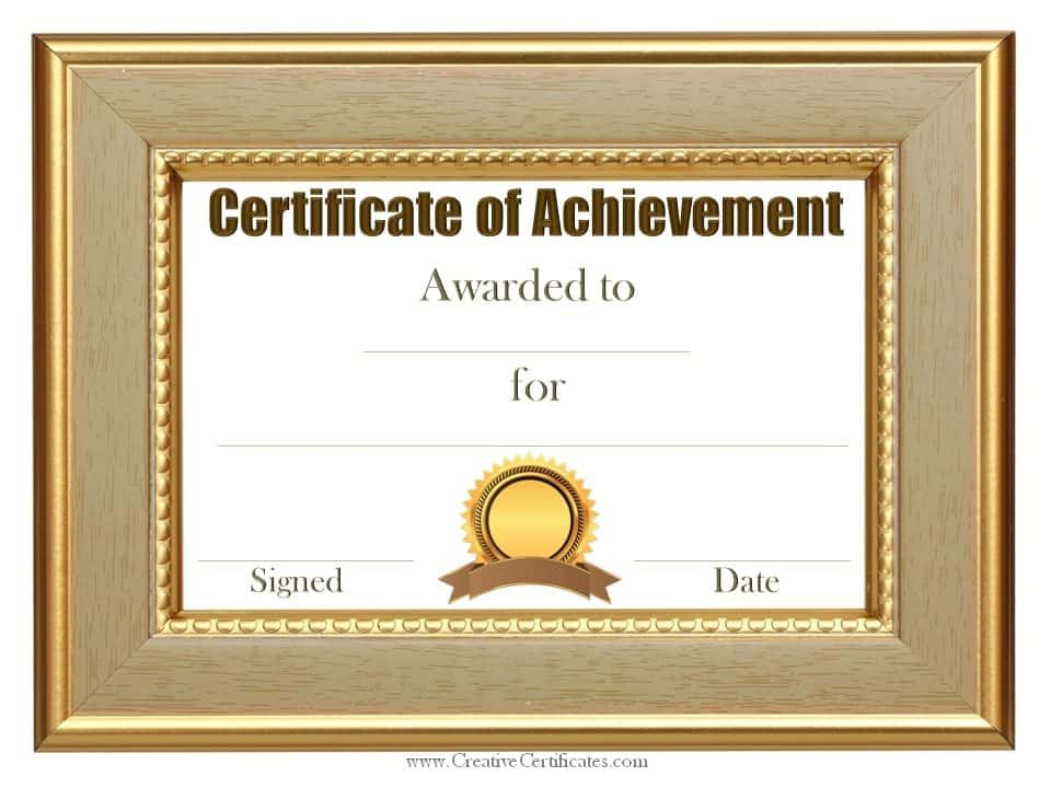 This is a photo of Divine Free Printable Certificates of Achievement