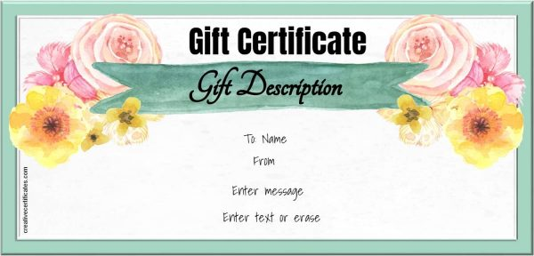 watercolor gift certificate template - Makeup Gift Certificate Template