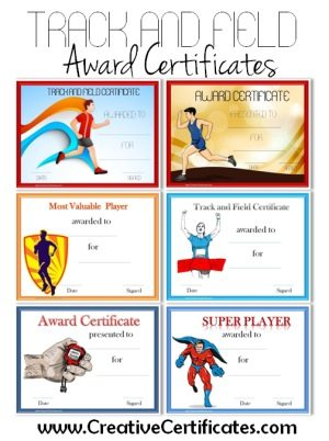 track and field certificate templates free customizable