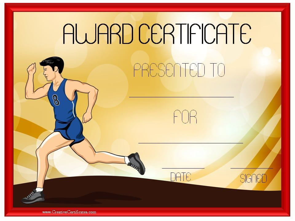 Track and Field Certificate Templates Free & Customizable