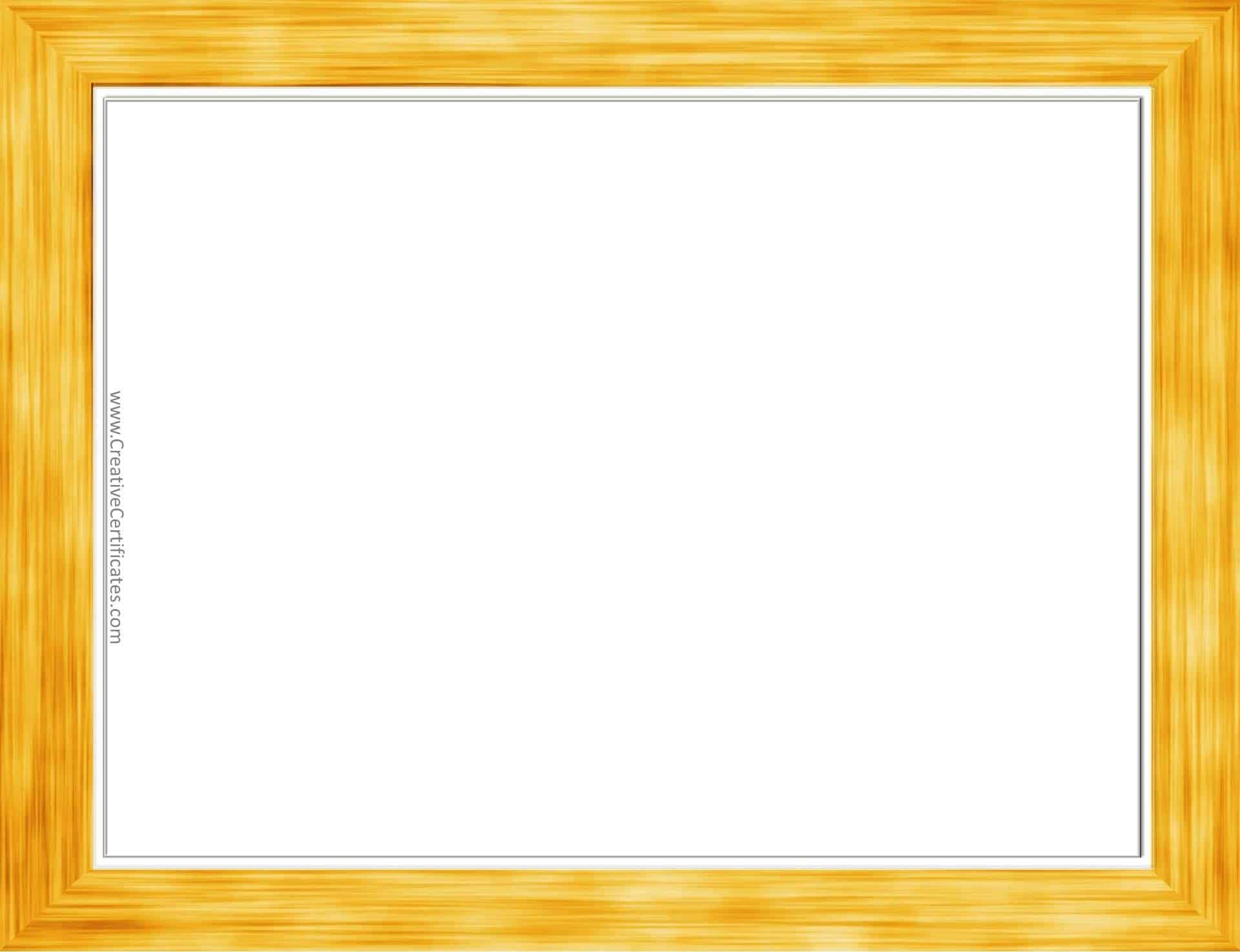Gold Border Templates | Free Instant Printable Download