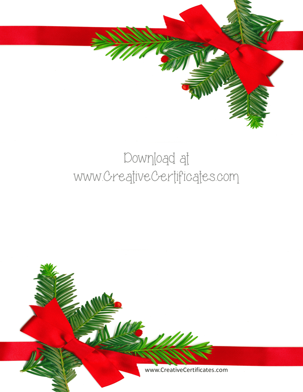 Free Christmas Border Templates Customize Online Then Download
