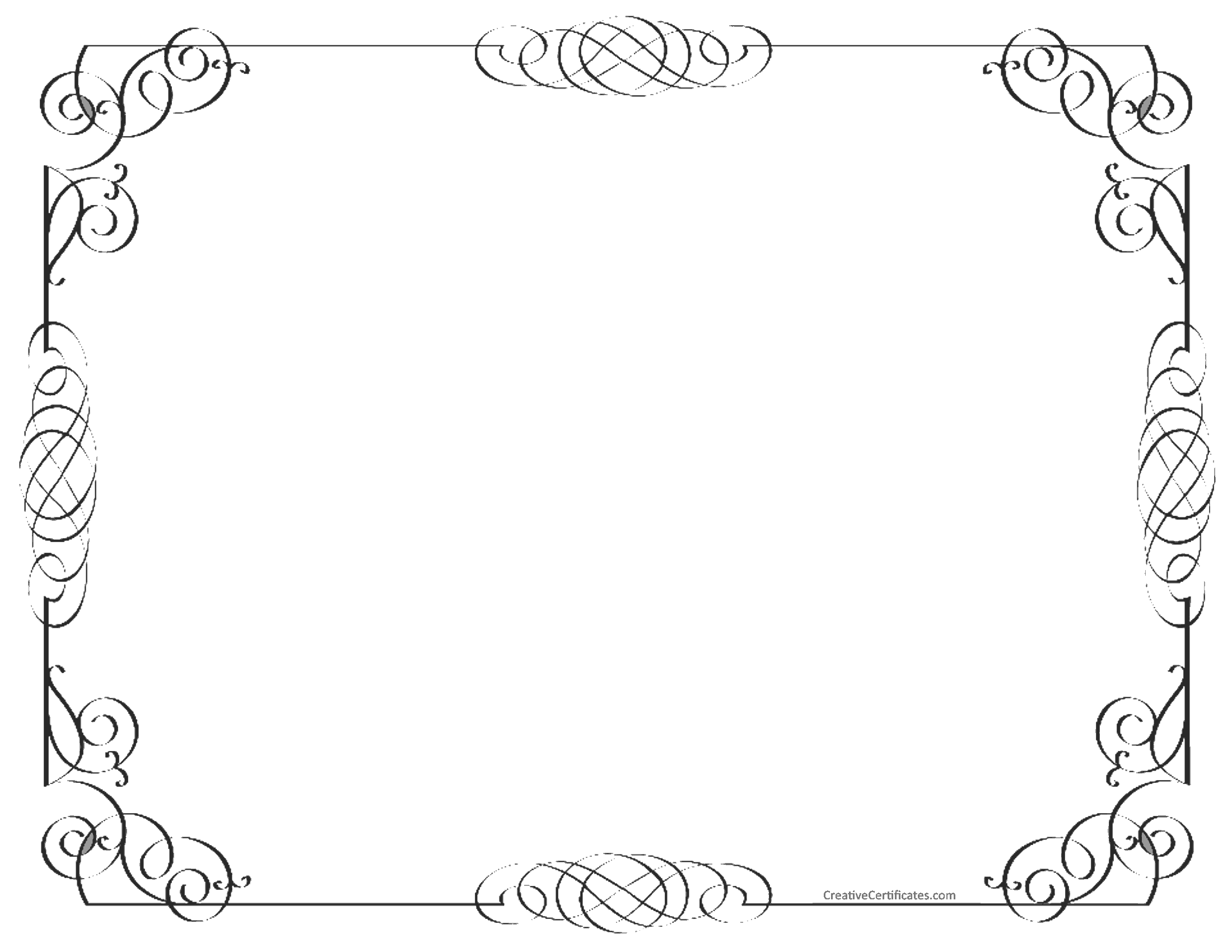 black and white border