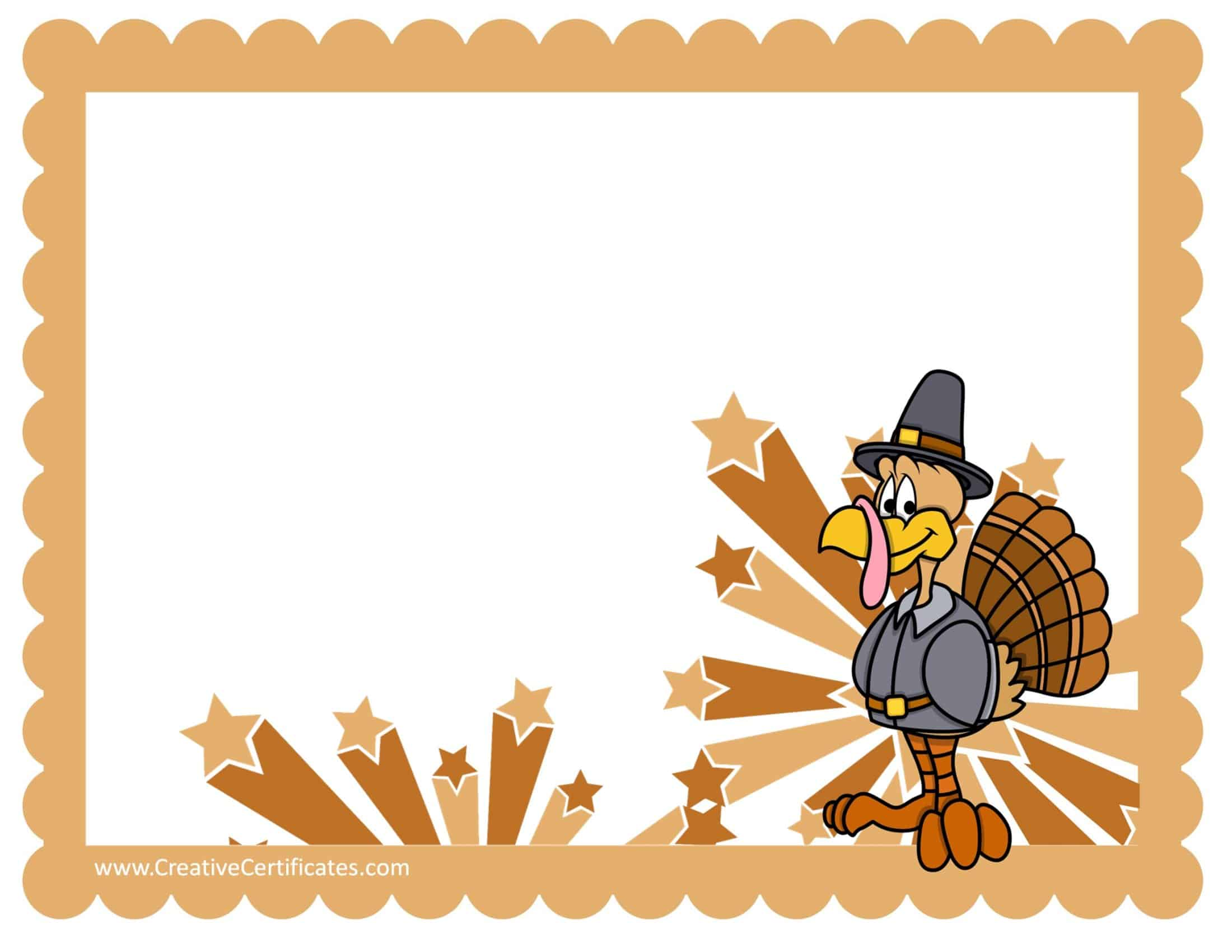Free custom certificate templates instant download thanksgiving borders maxwellsz