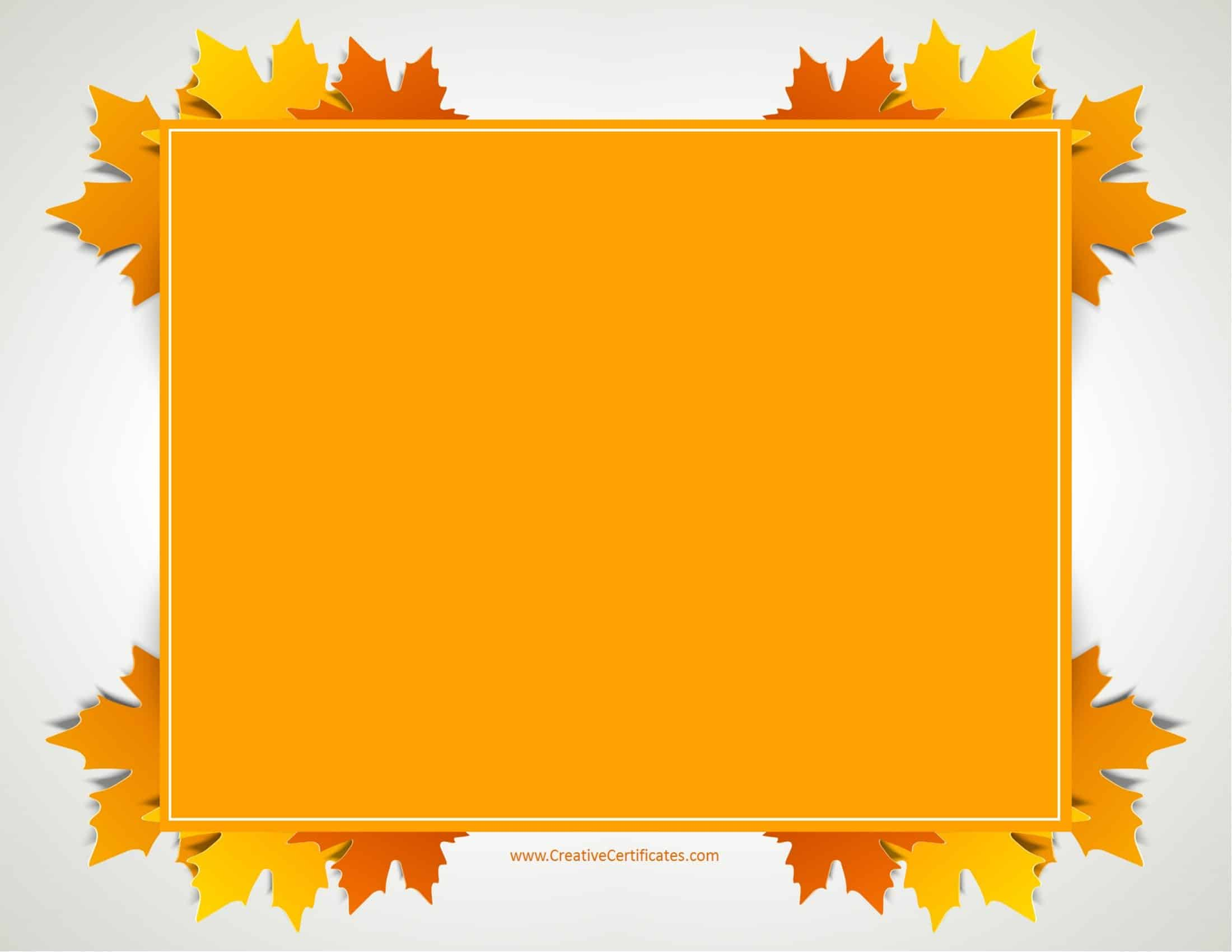 Free Thanksgiving Border Templates - Customizable & Printable