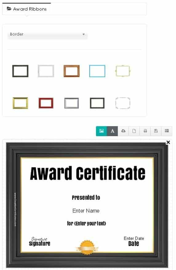 How to choose a ribbon for your certificate template free