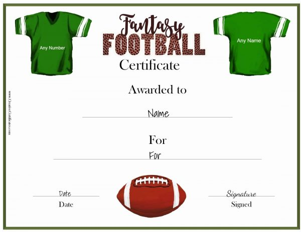 Free Fantasy Football Awards | Customize Online & Print