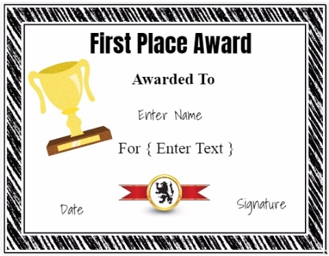winner certificate customize online print at home no registration
