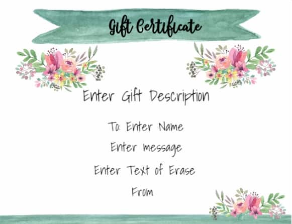 Free Gift Certificate Template | 50+ Designs | Customize Online and ...