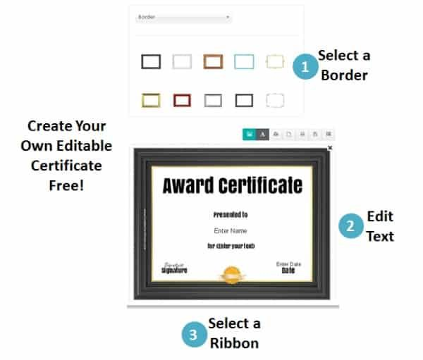 free online certificate maker instant download many designs