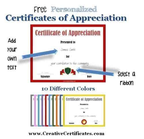 Certificate of appreciation customize online print at home certificate of appreciation template yadclub Gallery