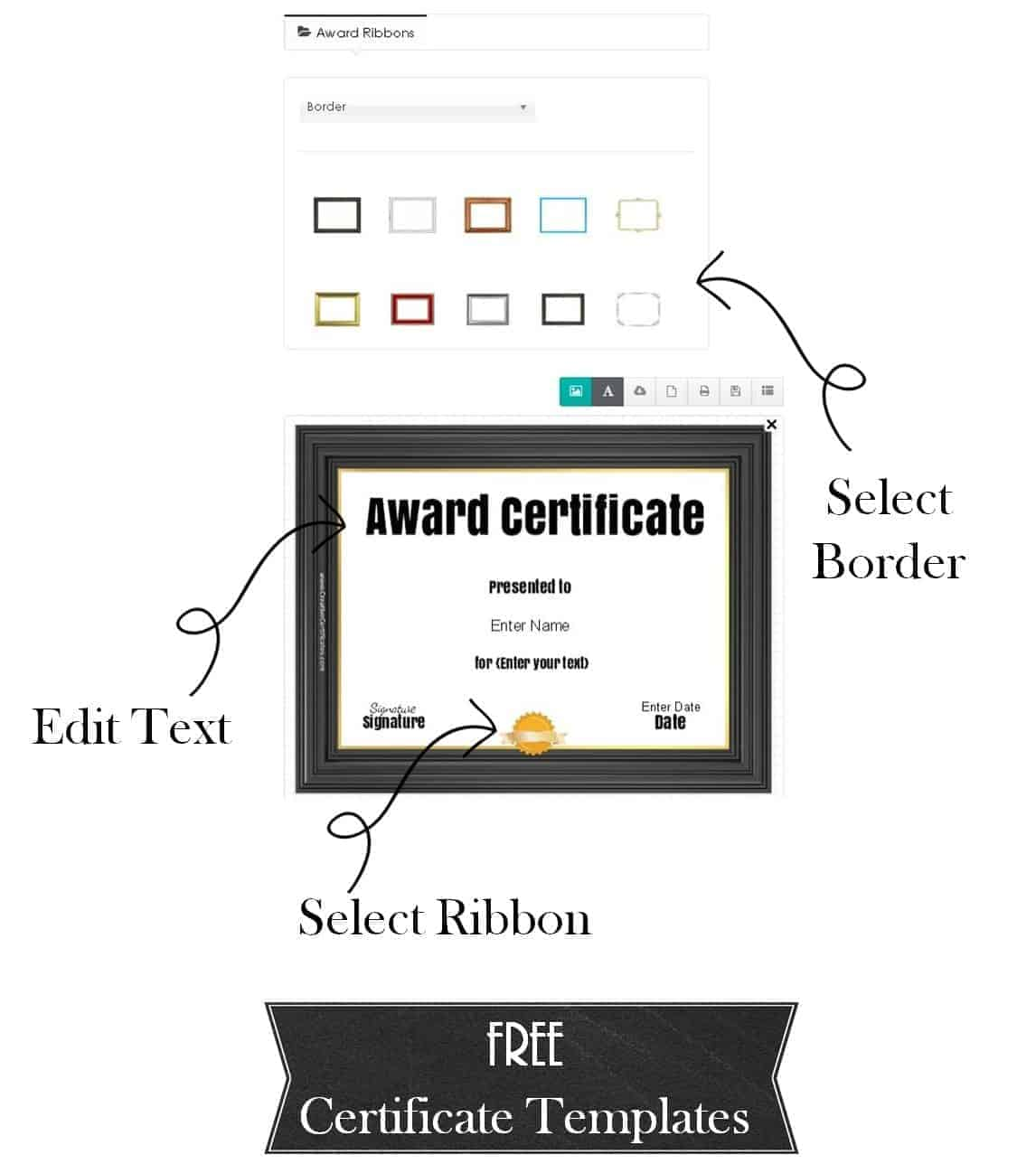 Free printable and customizable certificate templates award template yelopaper Image collections