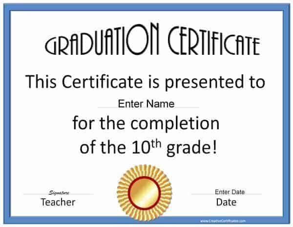 Certificate Colourful Puzzle Pieces Achievement Certificate – Graduation Certificate Template Free