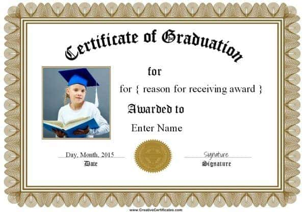 Graduation certificate
