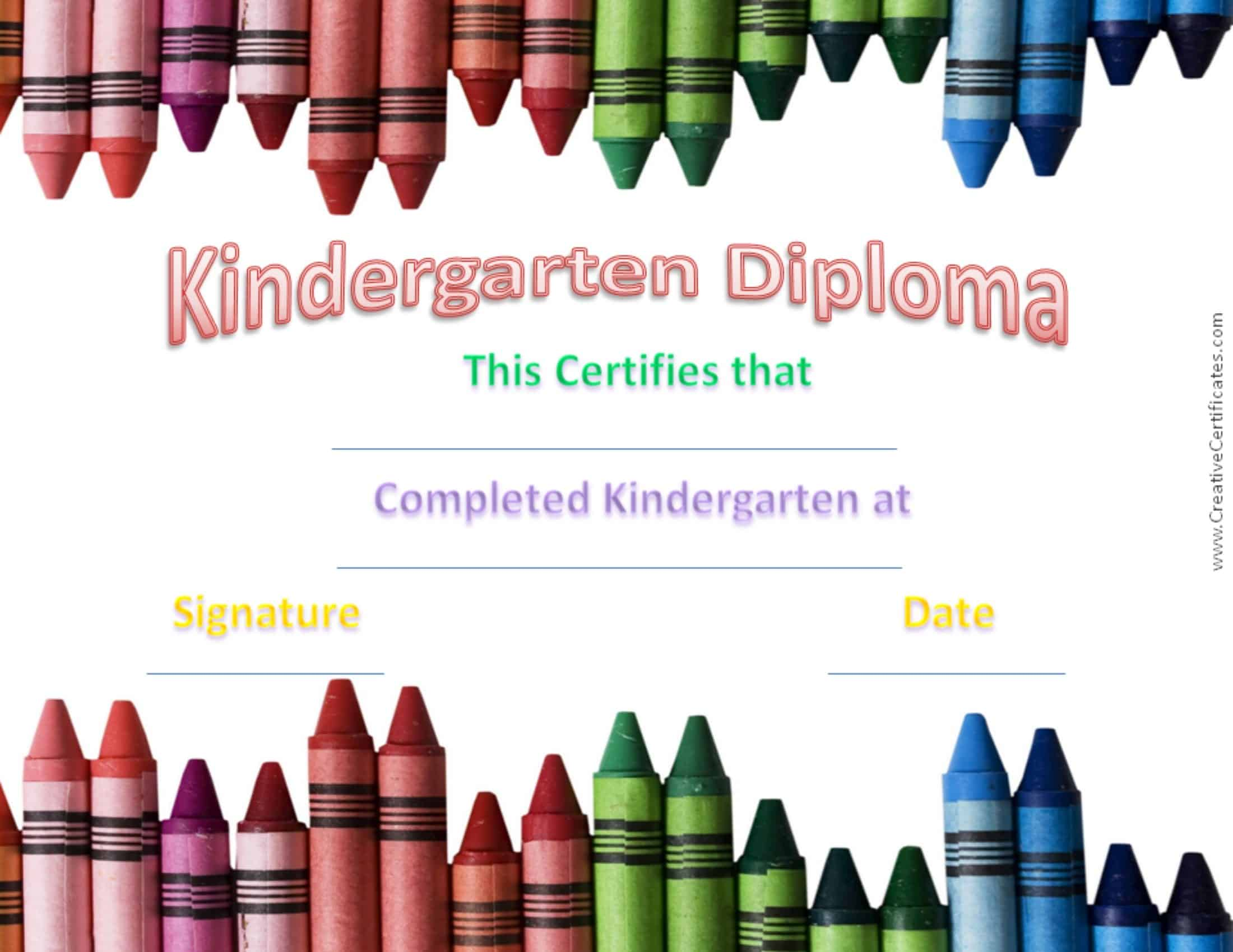Kindergarten graduation certificates kindergarten graduation certificate yadclub Image collections