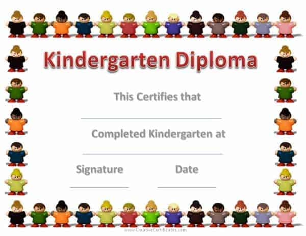 Kindergarten Graduation Certificates