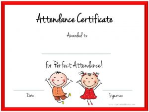 Attendance Award