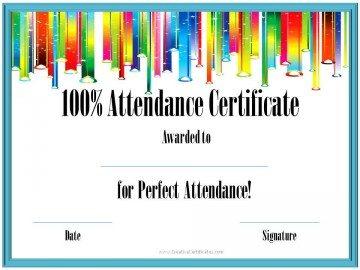 100% attendance