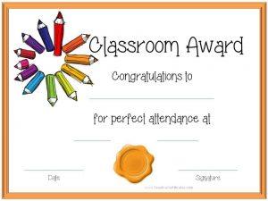 classroom award