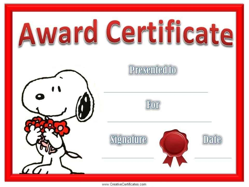 Childrens certificates free and customizable instant download characters yadclub