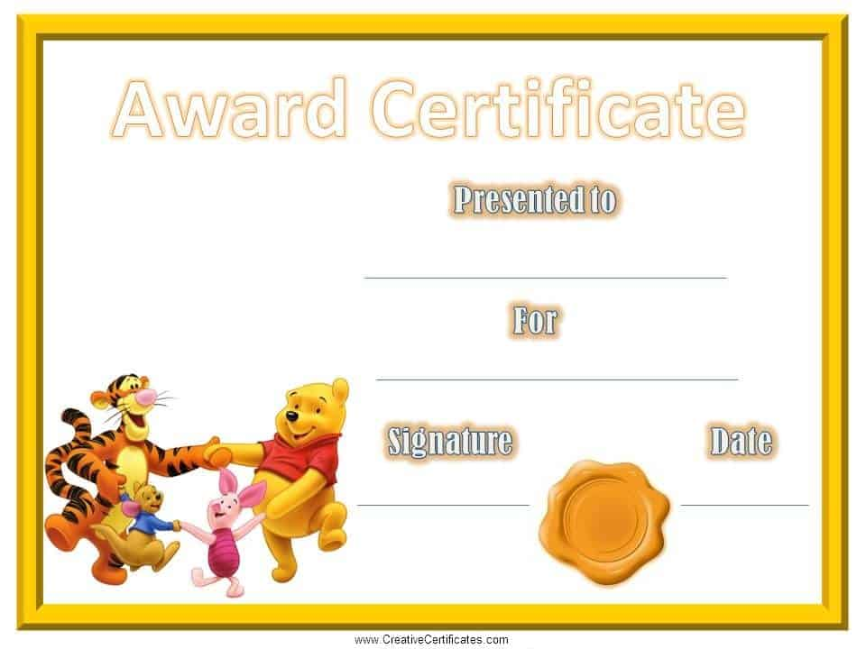 Childrens Certificates free and customizable – Certificate of Achievement for Kids