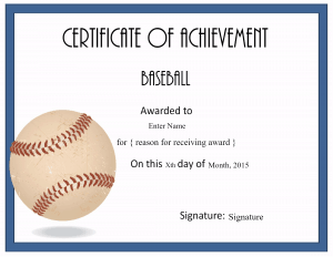 baseball award certificate template koni polycode co