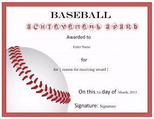 Free editable baseball certificates customize online print at home for Baseball awards ideas