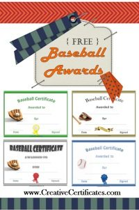 Free baseball certificate awards customize online free baseball certificate templates yadclub Image collections
