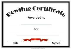 semi formal bowling certificates