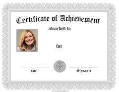Free online certificate maker silver frame with photo yadclub Gallery