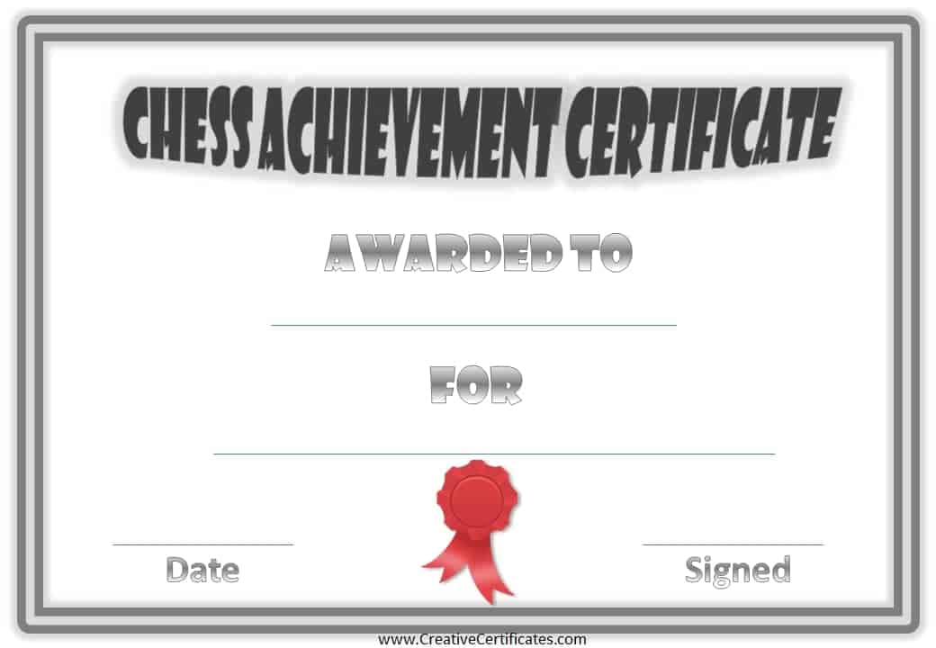 Chess Awards Award Template Free Certificate Templates Codecountry