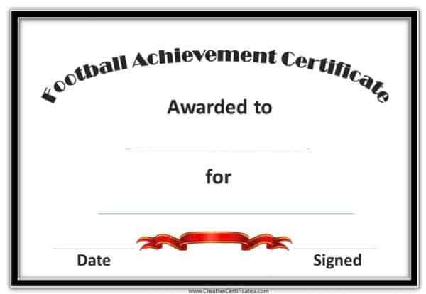Football award with a simple design and a white background