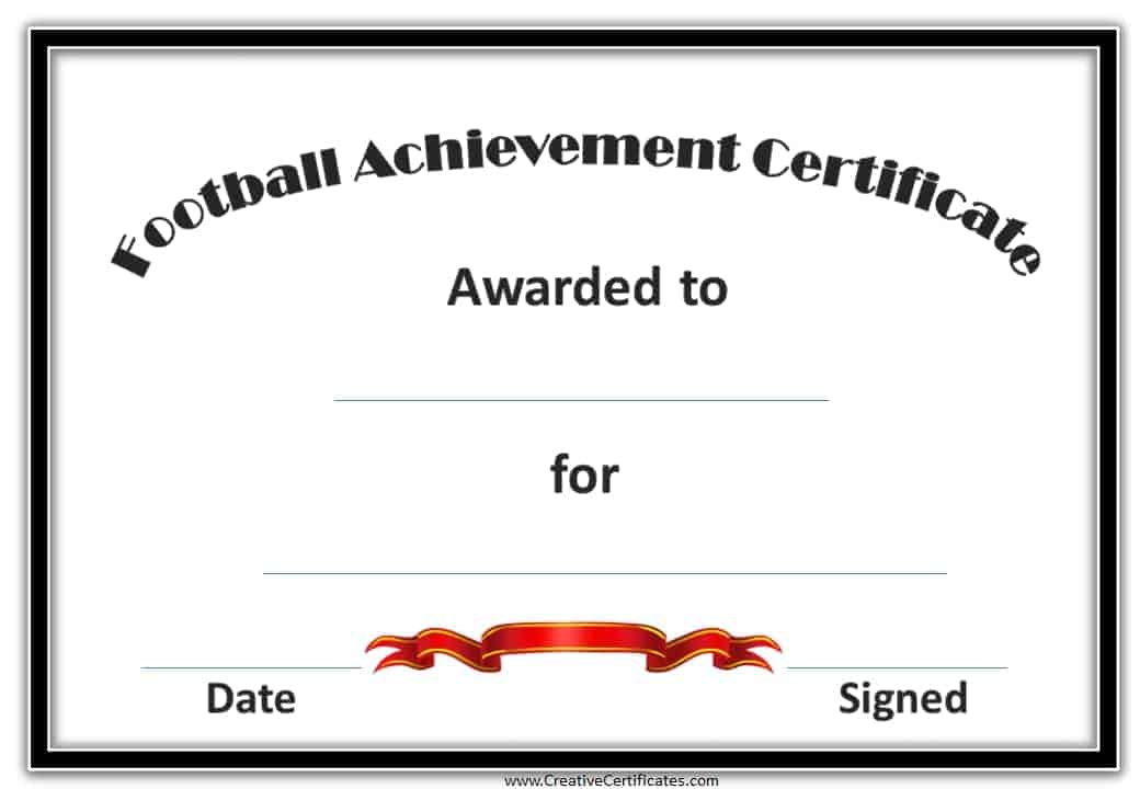 football award certificates free custom football certificates