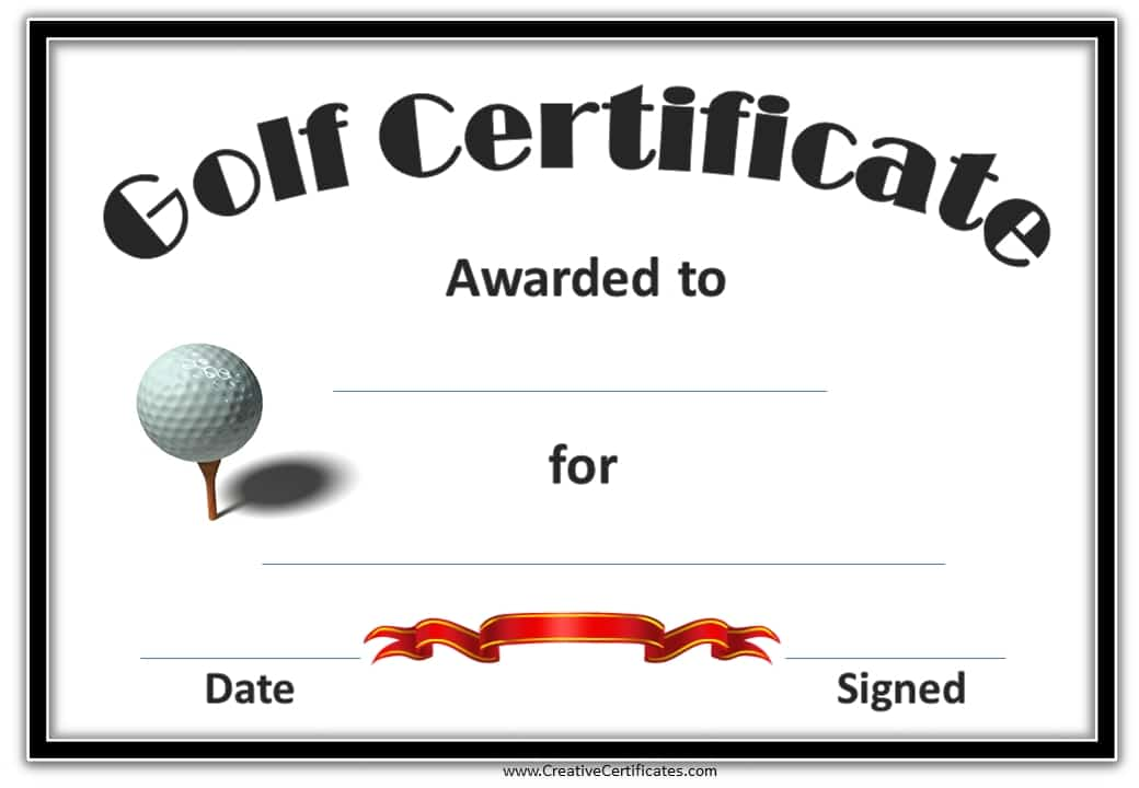Award certificate template awards certificates free templates golf awards yadclub Gallery