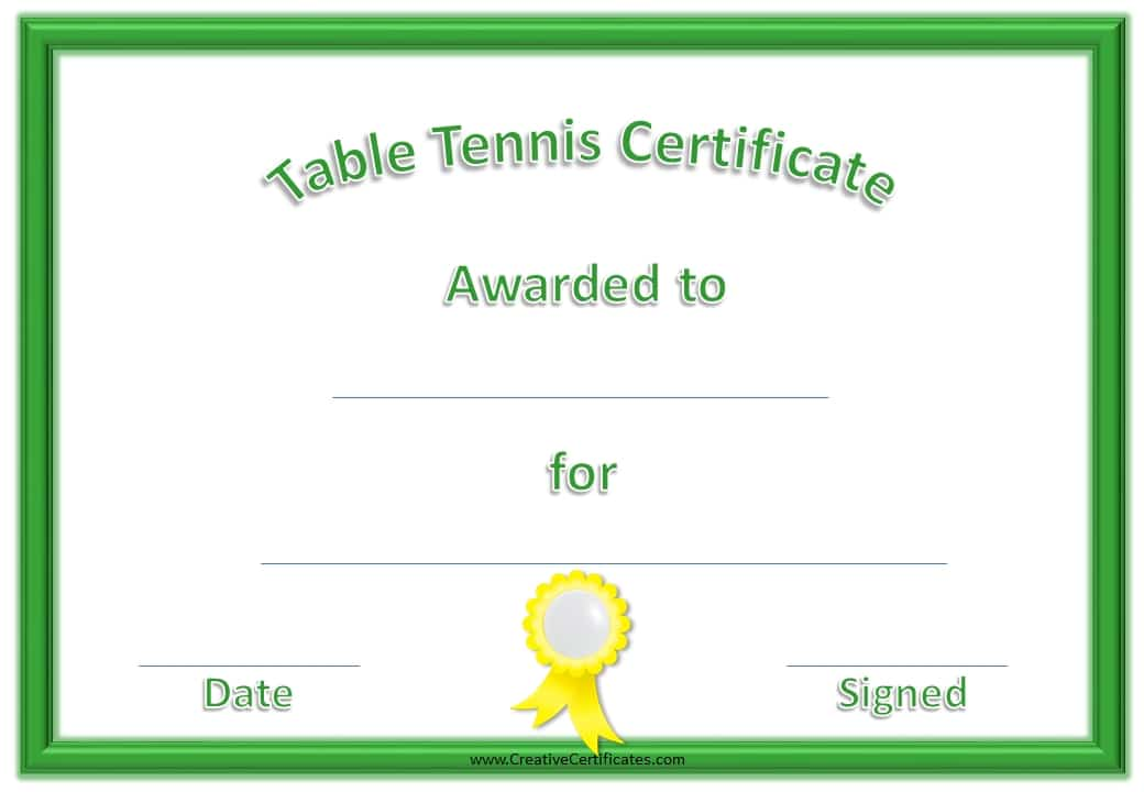 free printable golf certificates