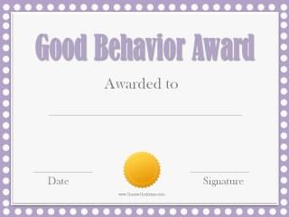 Printable award certificate