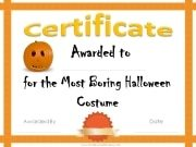 Most boring Halloween costume awards