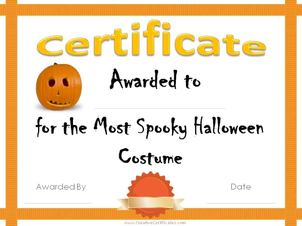 Free halloween costume awards customize online instant download free printable halloween award certificates yadclub