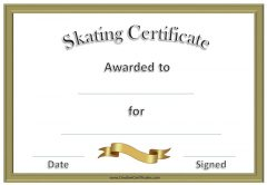 Free Skating Award Certificates