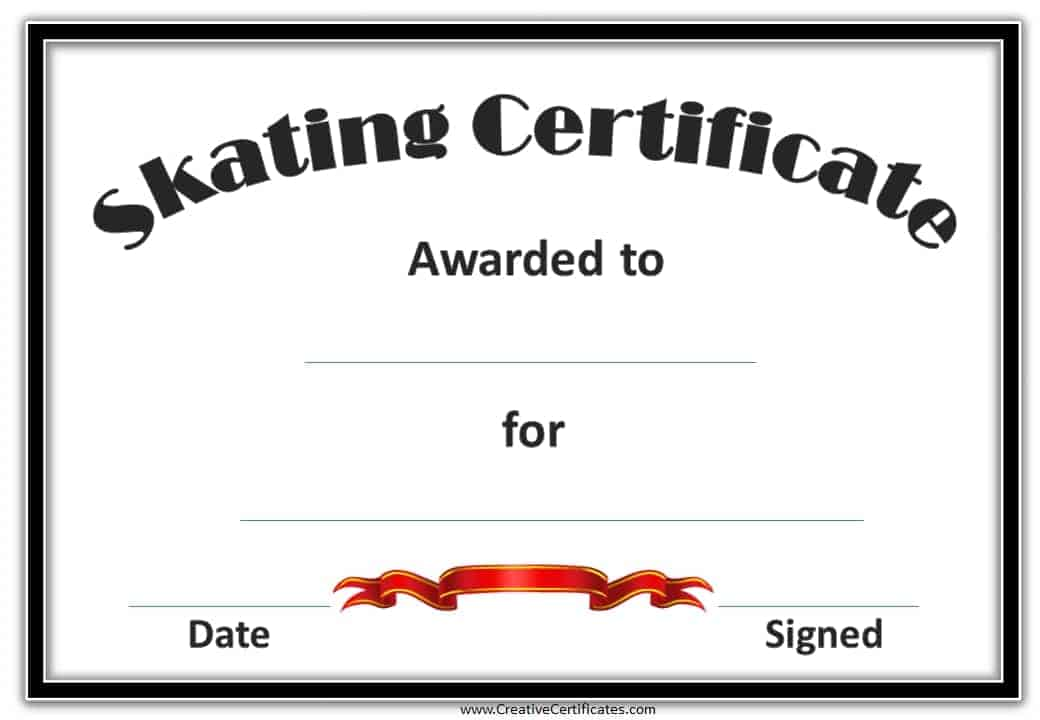 Skating Award Award Template Basketball Sports Award Template – Graduation Certificate Template Free