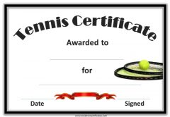tennis award with a picture of 2 tennis rackets and a ball