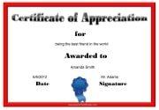 Blank Certificate of Appreciation
