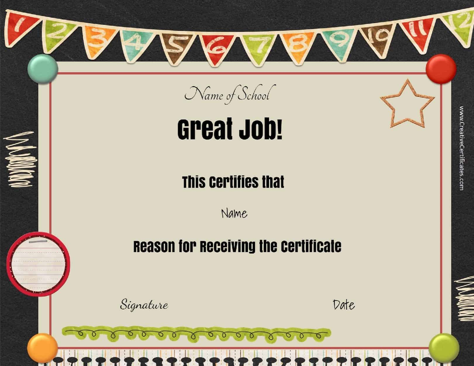 Free school certificates awards certificate for kids that can be customized xflitez Choice Image