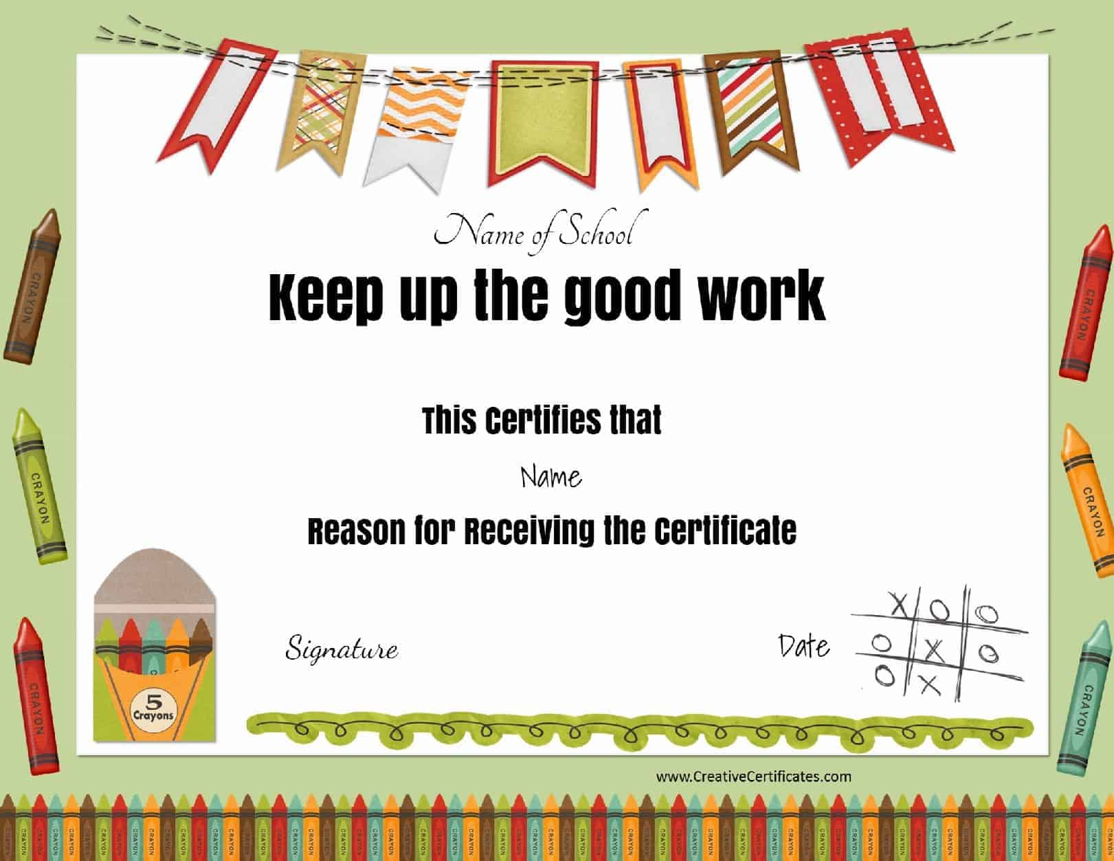 funny certificates for work